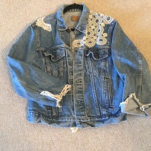Very cool vintage Levi and lace jacket